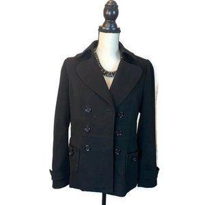 Forever 21 Women's Black Heavy Pea Coat